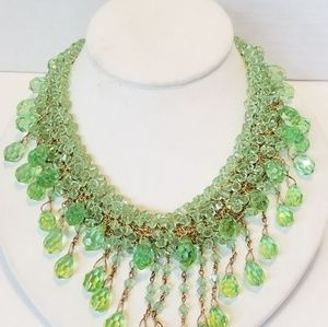 Wowsa  hand beaded crystal amazing necklace